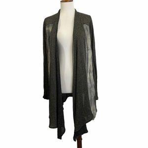 Share Spirt Kimono Sweater Linen Cotton Kangaroo